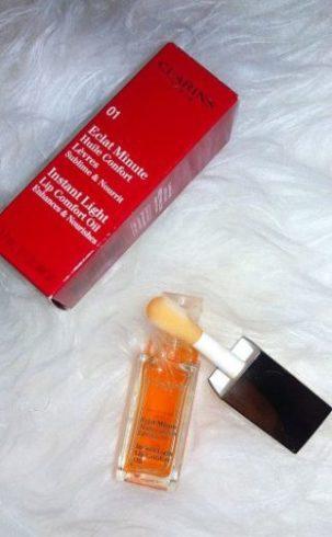 eclat minute huile confort lèvres clarins mysweetbeauté