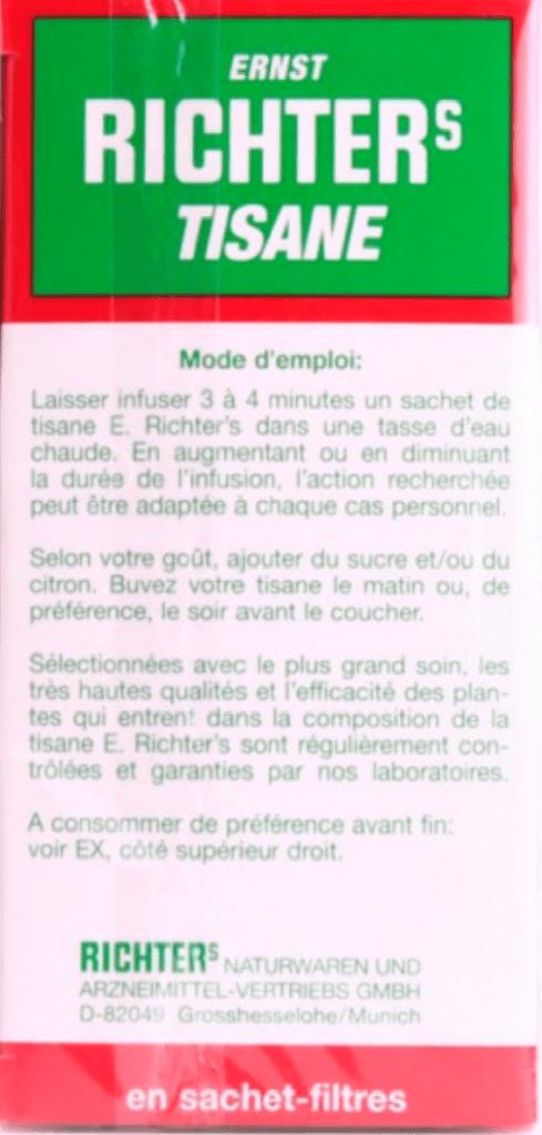 Tisane Richter's avis