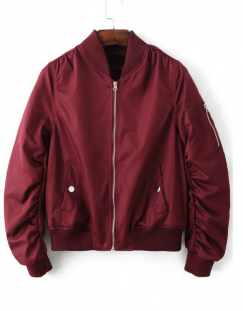 bombers rouge bordeaux zara