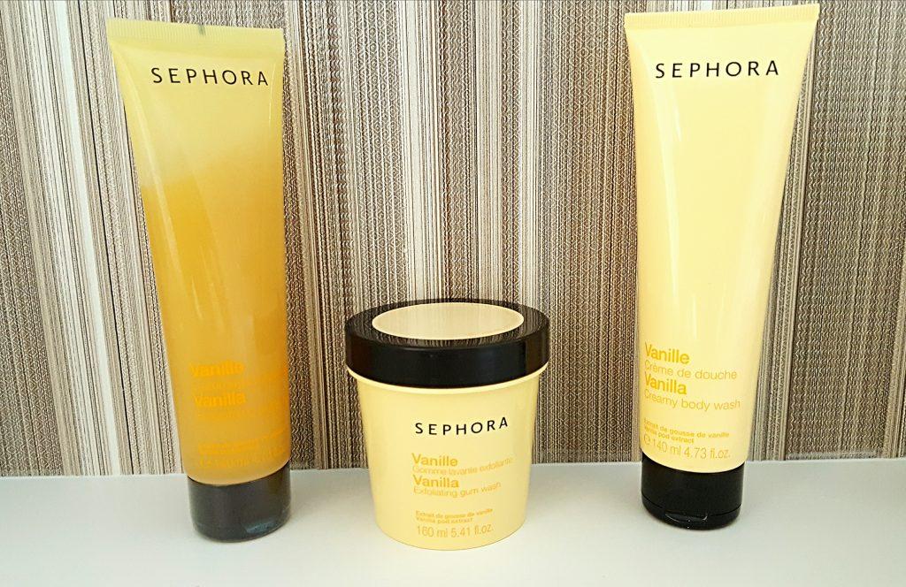 avis gamme Sephora à la vanille gommage crème de douche