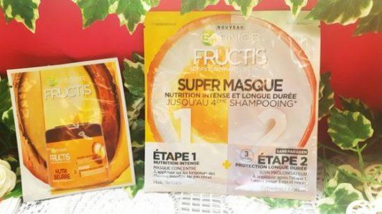 Super masque fructis Garnier nutrition intense miracle pour cheveux secs avis garnier