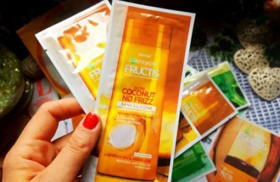 Test shampoing fructis coconut no frizz
