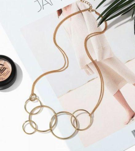 collier rond anneaux sassymyprom