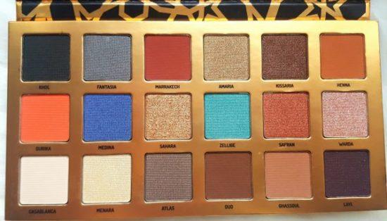 jolis fards pigmentés bleu bronze marron pas cher