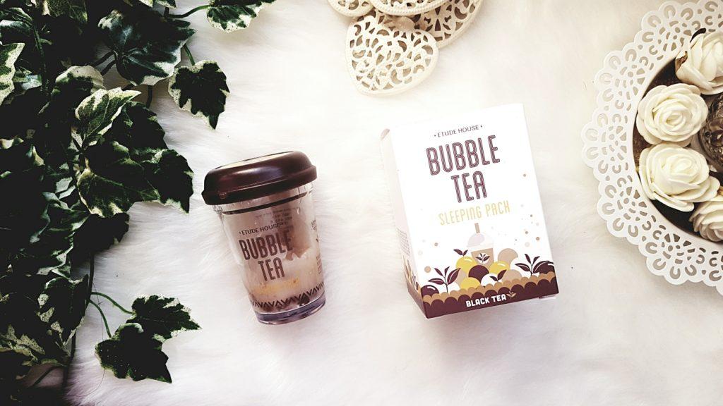 My sweet beauté masque hydratant etude house bubble tea produit coréen