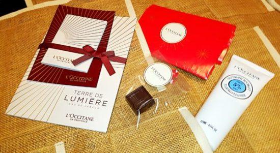 chocolat l'occitane, avis gel nettoyant karité l'occitane avec des cadeaux