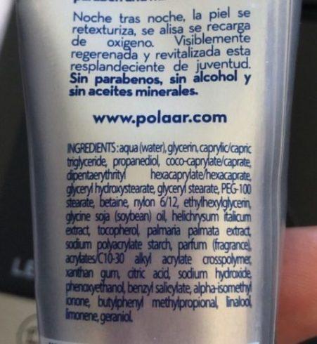 Ingrédients crème polaar composition la nuit polaire