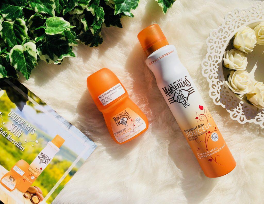 My sweet beauté test les produits le petit marseillais le petit ambassadeur déodorant soin avis à l'huile d'argan et huile essentielle de sauge