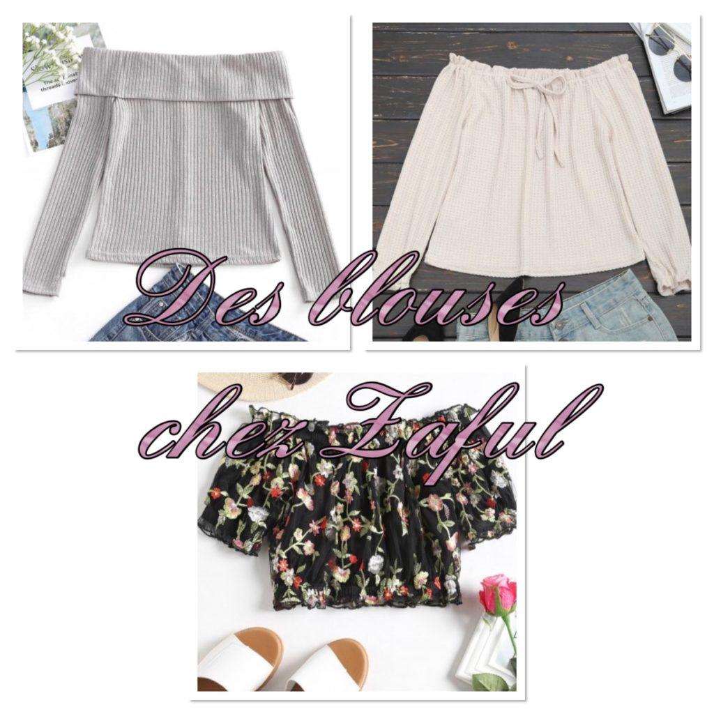 Des blouses Zaful selection My sweet beauté