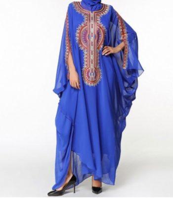 robes longues pour l'été bleu pas cher