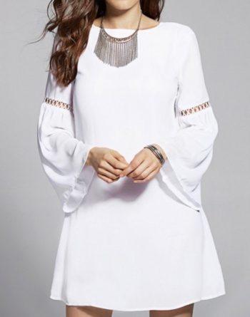 robes longues pour l'été couleur blanche