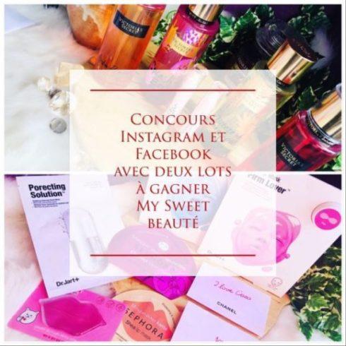 Concours produits gratuit à gagner my sweet beauté victoria secret dr jart sephora france à gagner gratuitement
