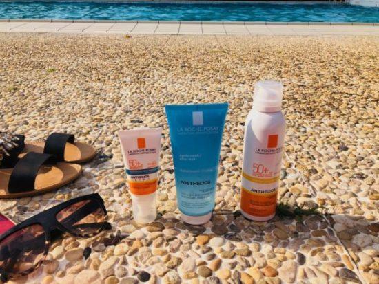 Produits solaires La Roche-Posay brume invisible gel anti oxydant et crème visage avis my sweet beauté