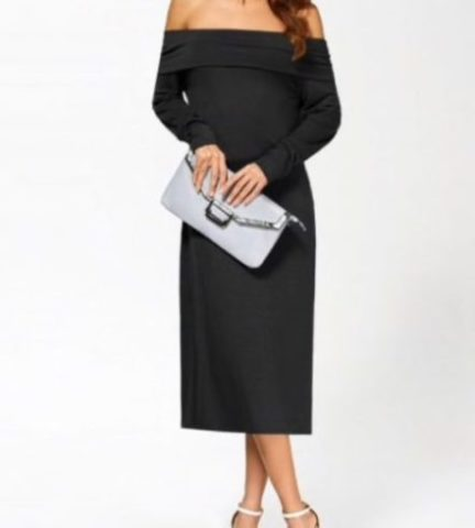 Robe simple longue noir Zaful