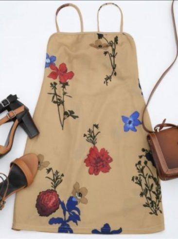 robe tendance coloris fleuries