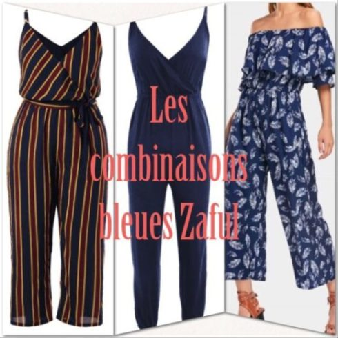 Sélection combinaison bleue sur le site Zaful my sweet beauté