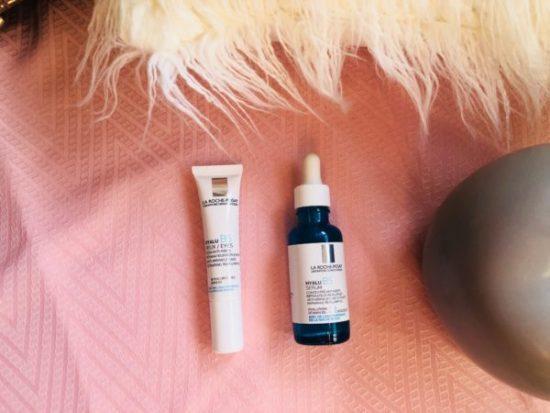 My sweet beauté test les produits Laroche Posay serum hyalu B5 et Hyalu B5 yeux soin anti-rides hivency