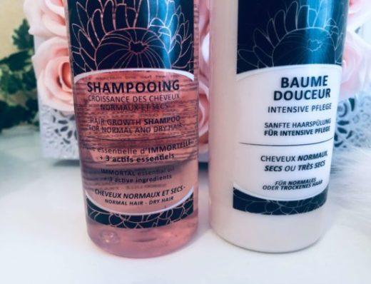 Shampoing et baume croissance des cheveux